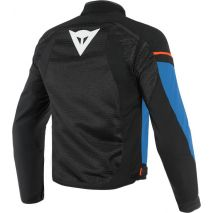 Dainese AIR FRAME D1 TEX JACKET, BLACK/LIGHT-BLUE/FLUO-RED   20173519683C008, dai_201735196-83C_44 - Dainese